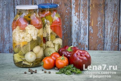 Рецепт маринад огород. Классический рецепт салата на зиму «Огород»